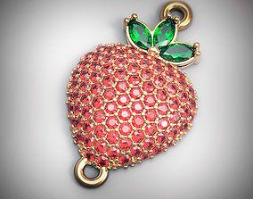 Pendant Strawberry 3D print model