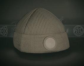 Brown Beanie 3D model game-ready