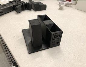 glock 19 pistol stand 3D print model