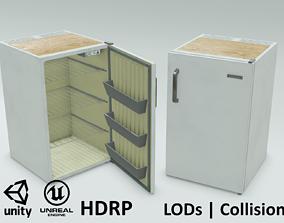 Game-ready Freezy - old vintage fridge - Unity 3D model 3