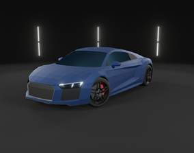Audi R8 Low-Poly Car sport-car 3D model