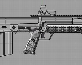 3D printable model RFB rifle with TECH 552 RED DOT