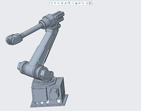 6-axis industrial robot 3D printable model
