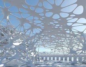 3D model Futuristic Architectural Structure 10 dome