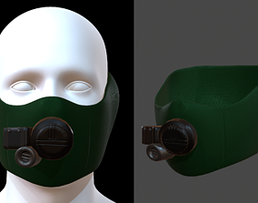 Gas mask helmet 3d model scifi realtime 1