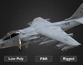Harrier Jet Fighter 3D asset animated