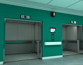 Elevator Lobby Scene Maya 3D model