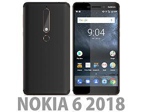 3D Nokia 6 2018 Black