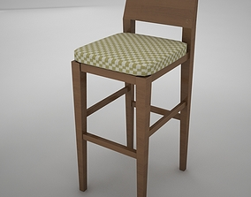 3D model bar chair bedroom
