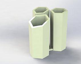 3D printable model Hive Pen Holder Simple