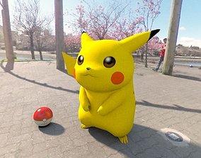 3D asset game-ready Pokemon pikachu