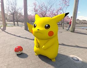 3D asset game-ready Pokemon pikachu