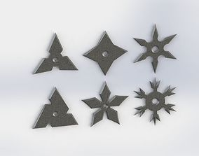 SHURIKEN SET model for 3d print