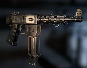 3D asset MAT-49 SMG
