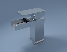 Plaza Waterfall Tap 3D asset
