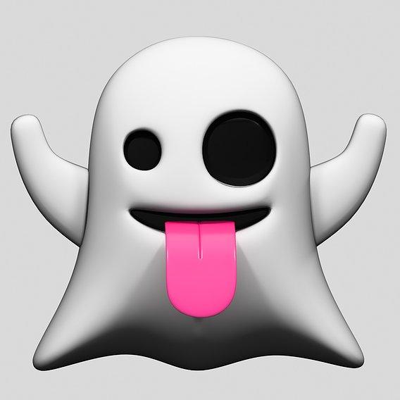 Emoji Ghost 3D model