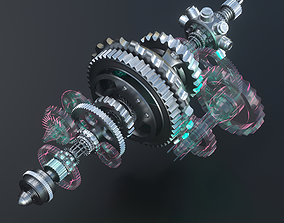 3D animated robot Gears