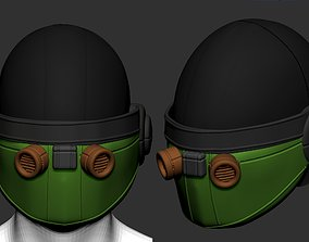 helmet scifi high poly sculpt 3d printable