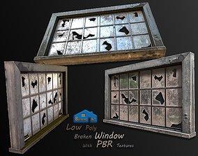 broken window 3D model realtime