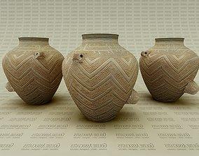 3D Asian Urn vase big type