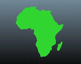 Africa map symbols 1 3D model