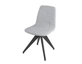 3D Chair TORSO 837-I POTOCCO Gray flax and black ash