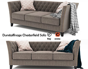 3D Dunstaffnage Chesterfield Sofa