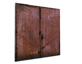 Metal Door 01 01 3D asset