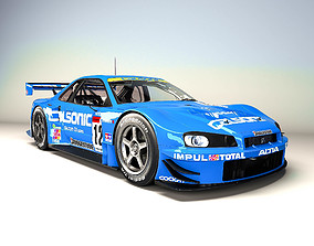 3D model A Nissan R34 GT-R GT500 competition