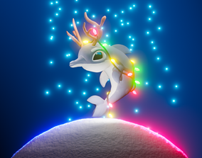 3D stylized Rudolphin CHRISTMAS Special