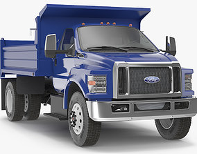 Ford F 650 2019 Tip Truck Simple Interior 3D