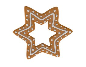 3D model Christmas Biscuit 04