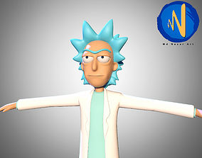 animated Rick Sanchez 3d Rigged Animated