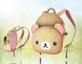 realtime Teddy bag Backpack - Fashion Bag - Low-poly 3D