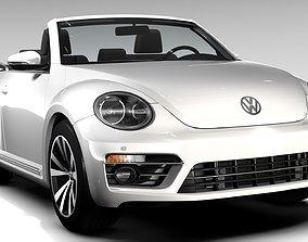 3D VW Beetle Cabriolet 2017