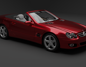 3D Mercedes-Benz SL 500 2001-2011