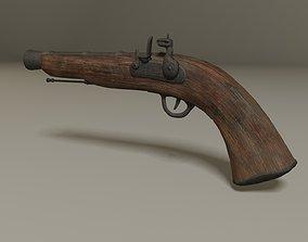 3D asset Pirate flintlock Jack Sparrow gun