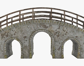 3D asset game-ready Old Stone Bridge