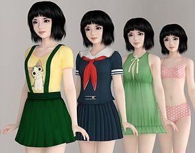 3D model Kayoko various outfit pose 02