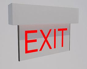Exit Sign-001 3D model
