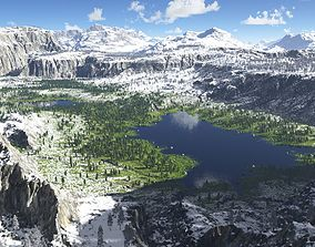3D The lakes valley in Terragen