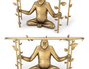 Gorille console Francois Xavier Lalanne 3D model