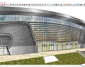 Sketchup Railway station B3 3D