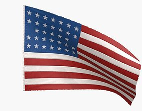 3D asset US Flag 33 Stars 1861