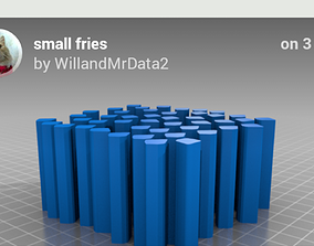 Small fries 3D print model