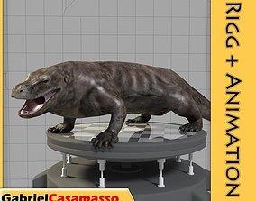 3D model animated Komodo Dragon