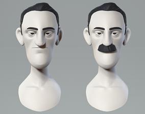 3D Cartoon male character base mesh
