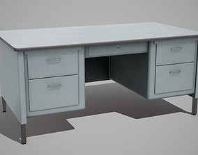 3D model Metal Desk table