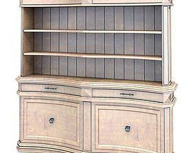 Large American Antique Finish Bookshelf 3D