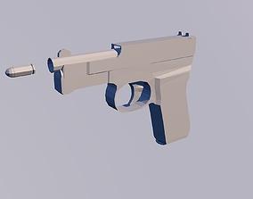 Low polygon gun 3D asset realtime
